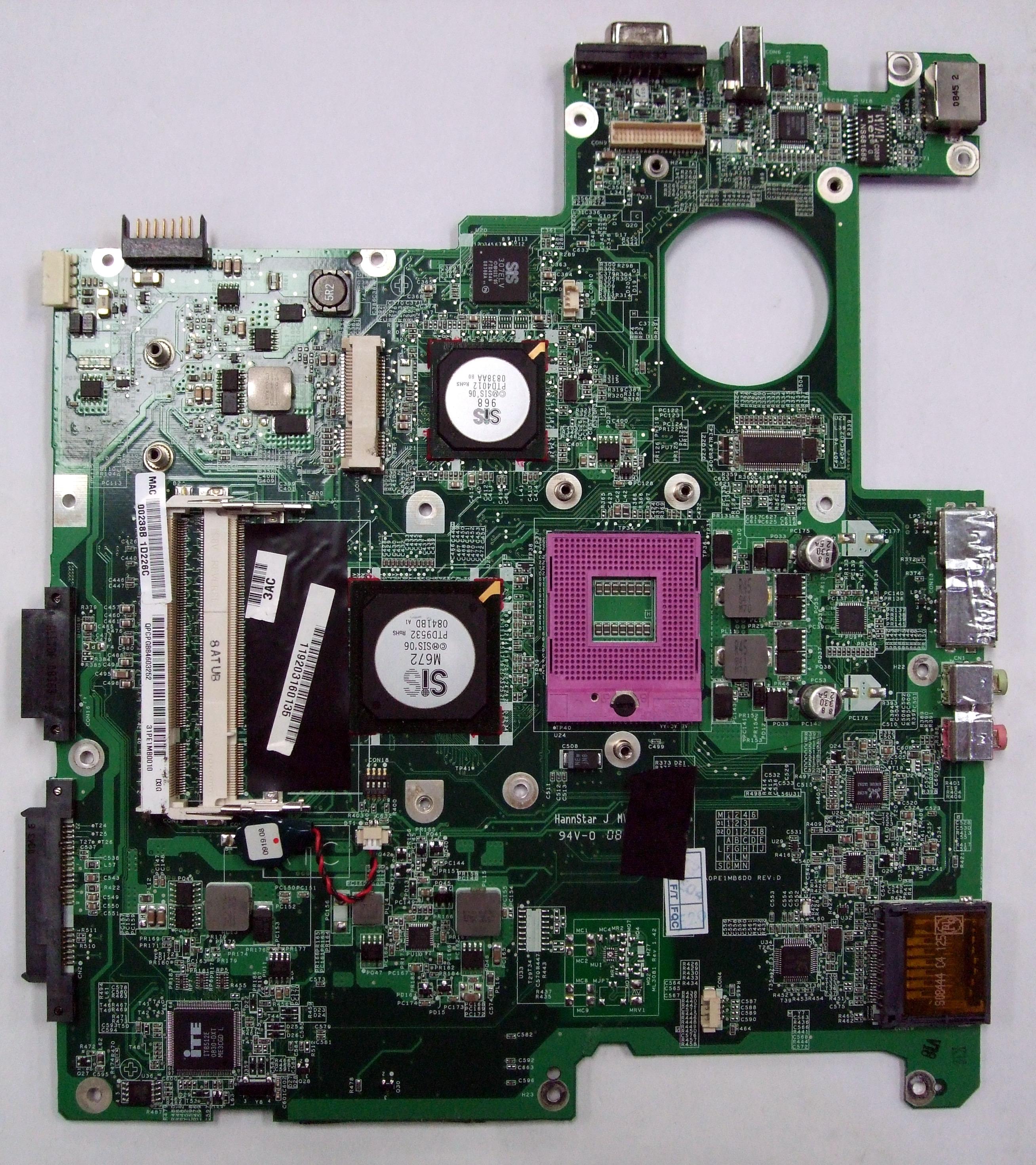 Packard Bell Easynote Tv43cm Anakart