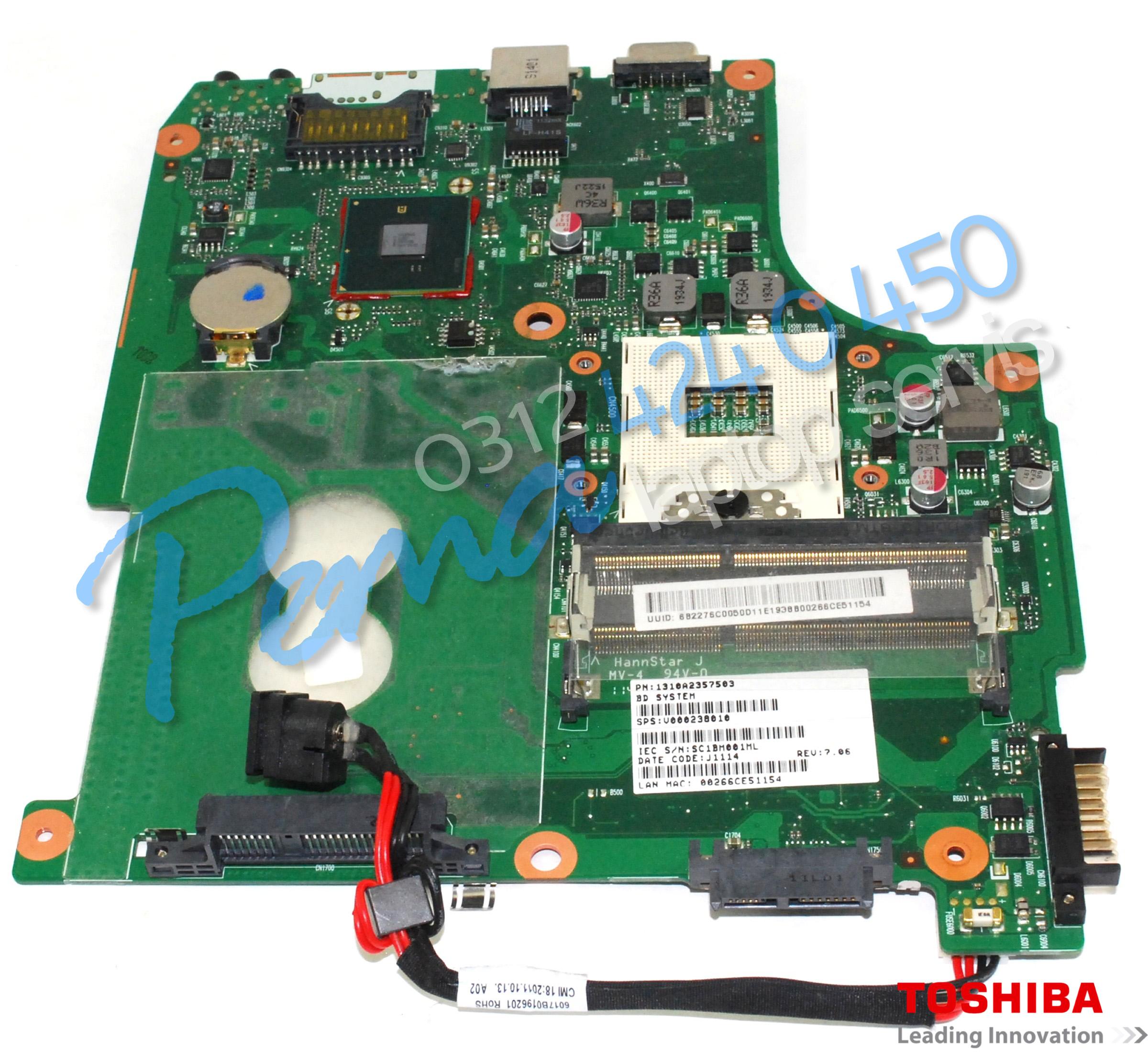 Toshiba Satellite C640 Anakart